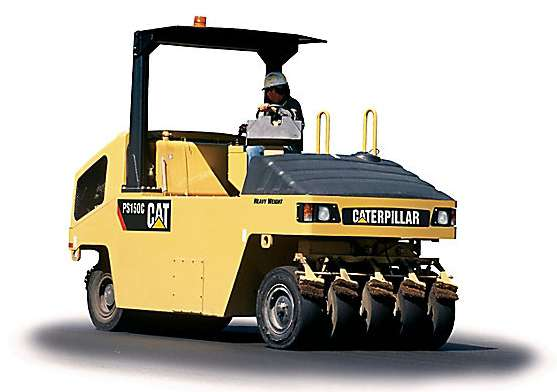 ขนาดยางรถบด CAT รุ่น PS150C (Compactor Tire Size)