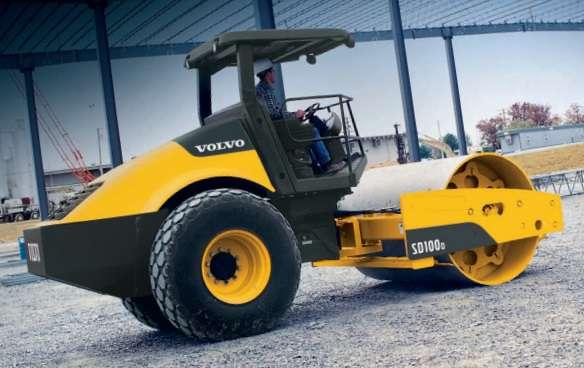 ขนาดยางรถบด VOLVO รุ่น SD100D , SD100F (Compactor Tire Size)