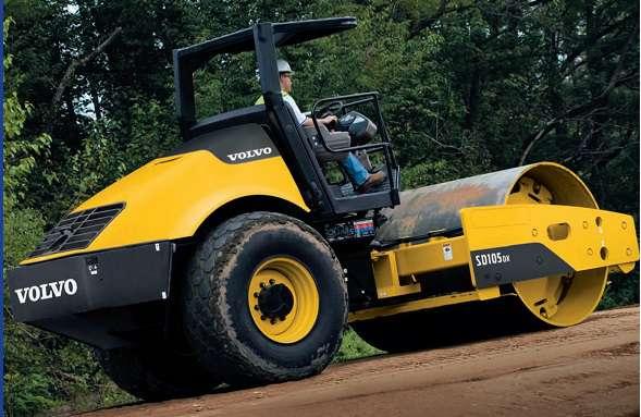 ขนาดยางรถบด VOLVO รุ่น SD105DX , SD105F (Compactor Tire Size)