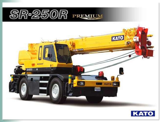 ขนาดยางรถเครน KATO รุ่น SR250R , SR300L (Rough Terrain Crane Tires)